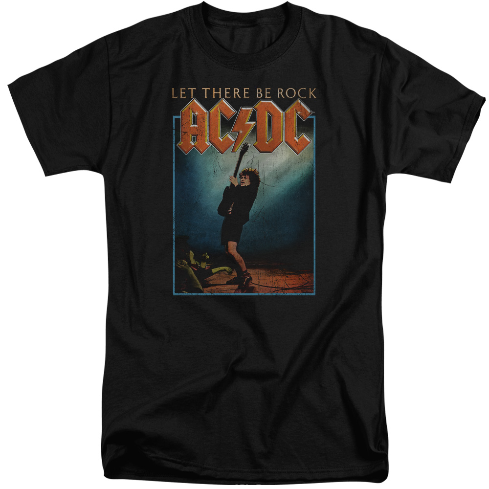 Acdc shirt let there be rock black tall t shirt acdc let for Big and tall rock t shirts