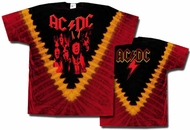ACDC Tie Dye Shirt Highway to Hell Burning Tee T-shirt