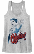 Ace Attorney Juniors Tank Top  Objection Athletic Heather Racerback