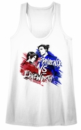 Ace Attorney Juniors Tank Top Phoenix VS Edgeworth White Racerback