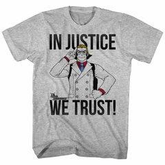 Ace Attorney Shirt Justice We Trust Athletic Heather T-Shirt