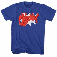 Ace Attorney Shirt Objection Royal Blue T-Shirt