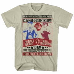 Ace Attorney Shirt Phoenix Wright VS Miles Edgeworth Cream T-Shirt