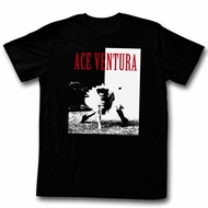 Ace Ventura Shirt Ace Adult Black Tee T-Shirt