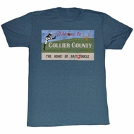 Ace Ventura Shirt Collie County Adult Blue Heather Tee T-Shirt
