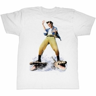 Ace Ventura Shirt Croc Surfin Adult White Tee T-Shirt