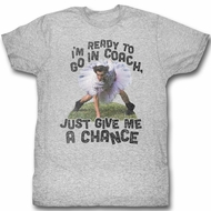 Ace Ventura Shirt Go In Coach Adult Grey Heather Tee T-Shirt