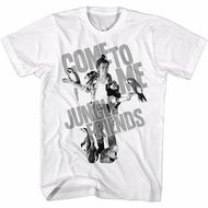 Ace Ventura Shirt Jungle Friends White T-Shirt