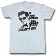 Ace Ventura Shirt Nine One One Adult Grey Heather Tee T-Shirt