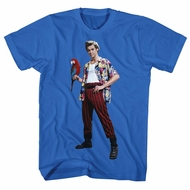 Ace Ventura Shirt Parrot Royal Blue Tee T-Shirt