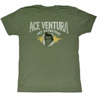 Ace Ventura Shirt Pet Adult Heather Green Tee T-Shirt