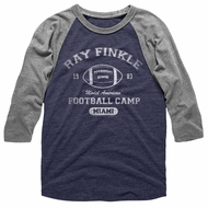 Ace Ventura Shirt Raglan Ray Finkle Grey/Navy Blue Shirt