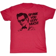 Ace Ventura Shirt Spank You Adult Red Tee T-Shirt