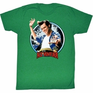 Ace Ventura Shirt Wisconsin Adult Kelly Green Tee T-Shirt