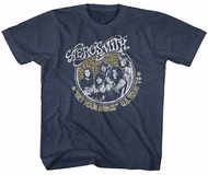 Aerosmith Kids Shirt Get Your Wings US Tour 1974 Heather Blue T-Shirt