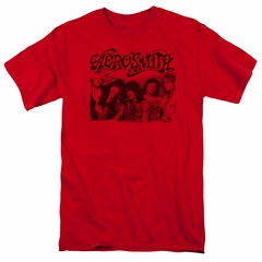 Aerosmith Shirt Old Photo Red T-Shirt