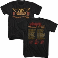 Aerosmith Shirt Permanent Vacation Tour 87-88 Front And Back Black T-Shirt