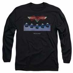 Aerosmith Shirt Rocks Long Sleeve Black Tee T-Shirt