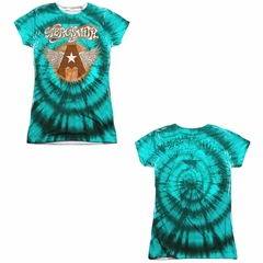 Aerosmith Shirt Tie-Dye Sublimation Juniors Shirt