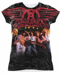 Aerosmith Stage Sublimation Juniors Shirt