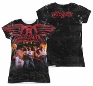 Aerosmith Stage Sublimation Juniors Shirt Front/Back Print