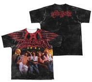 Aerosmith Stage Sublimation Kids Shirt Front/Back Print