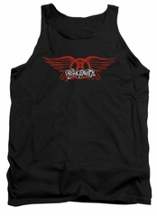 Aerosmith Tank Top Winged Logo Black Tanktop