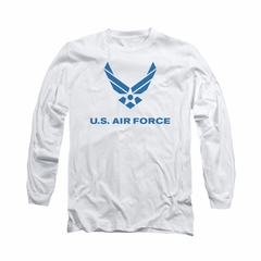 Air Force Shirt Logo Long Sleeve White Tee T-Shirt