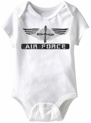 Air Force Wings Funny Baby Romper White Infant Babies Creeper
