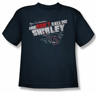 Airplane Shirt Kids Dont Call Me Shirley Navy Youth Tee T-Shirt