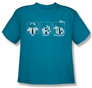 Airplane Shirt Kids Johnny Improv Turquoise Youth Tee T-Shirt