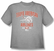 Airplane Shirt Kids Trans American Athletic Heather Youth Tee T-Shirt