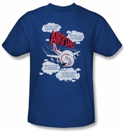 Airplane Shirt Picked The Wrong Day Adult Royal Blue Tee T-Shirt