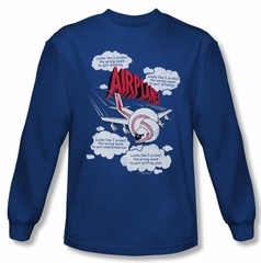 Airplane Shirt Picked The Wrong Day Long Sleeve Royal Blue Tee T-Shirt