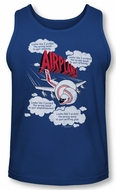 Airplane Tank Top Picked The Wrong Day Royal Blue Tanktop