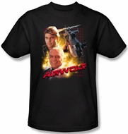 Airwolf T-shirt Airwolf Collage Adult Black Tee Shirt