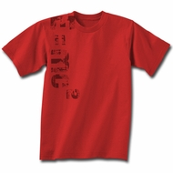 Albert Einstein Shirt E=MC2 Equation Adult Red T-shirt