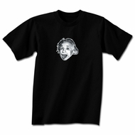 Albert Einstein Shirt Little Einstein Adult Black T-shirt