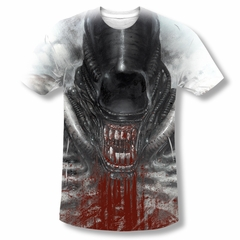 Alien Shirt Bloody Drool Sublimation Shirt