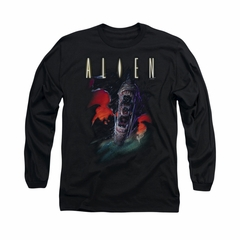 Alien Shirt Mouths Long Sleeve Black Tee T-Shirt