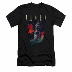 Alien Shirt Slim Fit Mouths Black T-Shirt