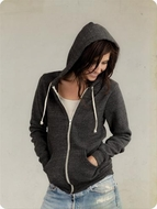 Alternative Apparel Ladies Full Zip Hoodie Sweatshirts Rocky Eco Hoody
