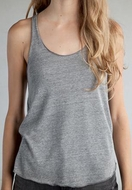 Alternative Apparel Ladies Racerback Tank Meegs Heather Grey Tank Top