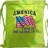 America Love It or Leave It Lime Tie Dye Bag