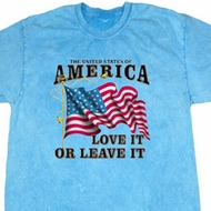 America Love It or Leave It Mineral Tie Dye Shirt