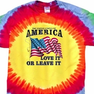 America Love It or Leave It Premium Tie Dye Shirt