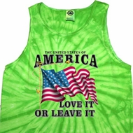 America Love It or Leave It Tie Dye Tank Top
