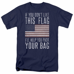 American Flag Shirt Pack Your Bag Navy T-Shirt