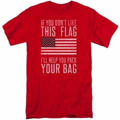 American Flag Shirt Pack Your Bag Red Tall T-Shirt