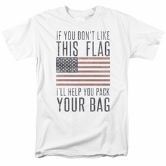 American Flag Shirt Pack Your Bag White T-Shirt